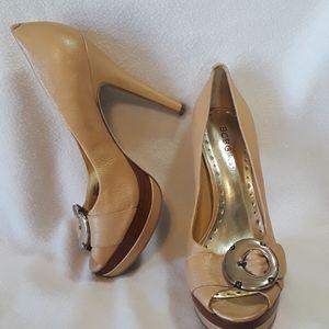 BCBGirls BG-BOBBY leather upper heels, sz 7B